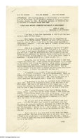 "Autographs:U.S. Presidents, President Harry Truman's Final Report to the Nation Signed""Harry Truman."" Six pages, 8"" x 14"", White House, Washing..."