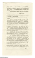 """Autographs:U.S. Presidents, Harry S Truman Signed 1953 State of the Union Address Mimeographed Speech Signed: """"Harry S Truman"""" at conclusion, 16p (f..."""