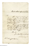Autographs:U.S. Presidents, George Washington appoints the first U.S. Marshal for Virginia.. George Washington (1732-1799) President and Commander...