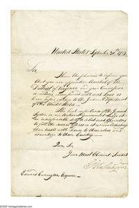 George Washington appoints the first U.S. Marshal for Virginia.  George Washington (1732-1799) President and Commander...