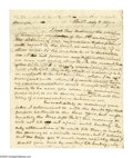 Autographs:Celebrities, Nicholas Biddle Autograph Letter Regarding a Land PurchaseAutograph Letter Signed, 2 pages, recto and verso, Philadelphia,...