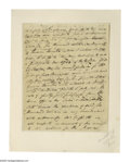 "Autographs:Statesmen, Continental Congress President Elias Boudinot Document Signed. Twopages, 6.5"" x 8.25"", [New Jersey], July 25, 1808. A legal..."