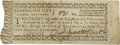 "Autographs:Military Figures, Daniel Carroll (1730-1796) Partly-printed Document Signed, ""DanlCarroll "", one page, 4.25"" x 1.5"", Washington, no date ..."