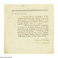 "Autographs:Statesmen, Declaration Signer Samuel Chase Document Signed ""SamuelChase."" Three pages, 7.75"" x 7.6"", Baltimore, Maryland August14..."