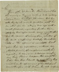 Military & Patriotic:Revolutionary War, George Clymer Bends Over Backwards To Be Fair To a Debtor. Autograph Letter Signed, 2 page, recto and verso, with integral a...
