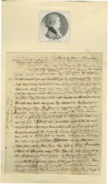 Autographs:Statesmen, William J. Duane 1811 Autograph Letter Signed from an early American journalist and author with incredible content. Four pag...