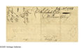 "Autographs:Statesmen, Declaration Signer William Ellery Endorsement Signed ""WilliamEllery."" Two pages (clipped from a larger document), 6.8""..."