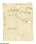 "Autographs:Statesmen, Declaration Signer William Ellery Autograph Letter Signed""William Ellery"". One page, [Newport], August 13, 1794, toDis..."