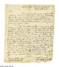 "Autographs:Statesmen, Declaration Signer William Ellery Autograph Letter Signed ""Wm.Ellery Collr."" One page, 6.75"" x 8"", Collector's Office, ..."