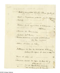 "Autographs:Statesmen, Declaration Signer Elbridge Gerry Autograph Letter Signed in thethird person twice as, ""Mr. Gerry."" Two pages with inte..."