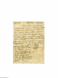 "Autographs:Statesmen, Declaration Signer Elbridge Gerry Autograph Letter Signed ""E.Gerry."" 7.2"" x 9.7"", one page letter, dated September 10, ..."