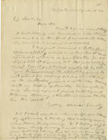 Military & Patriotic:Civil War, Horace Greeley Autograph Letter on the Abolitionist Cassius Clay's Work. Autograph Letter Signed (twice: in full and with in...