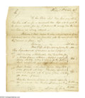 Autographs:Military Figures, Samuel Hodgdon, Washington's Superintendent of Military Stores, Details the Operation of His Department. Letter Signed, as ...