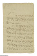 "Autographs:Statesmen, Declaration Signer Francis Hopkinson Autograph Letter Signed""Fra. Hopkinson"". Three pages plus docketing information,8..."