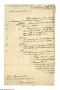 "Autographs:Statesmen, Henry Laurens (1724-1792) diplomat and President of the ContinentalCongress, Autograph Letter Signed, ""Henry Laurens Pres..."