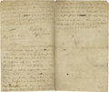 "Military & Patriotic:Revolutionary War, Charles Lee (1732-1782) Letter Signed ""Charles Lee Major General"",three pages, 7.5"" x 12.5"", ""Camp"" [near Peekskill], Novem..."