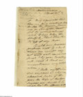 "Military & Patriotic:Revolutionary War, Henry ""Light Horse Harry"" Lee (1756-1818) American general in the Revolutionary War, Autograph Letter Signed, ""Henry Lee ..."