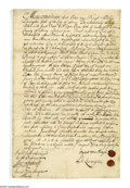 Autographs:Celebrities, [New York] Philip Livingston, the Patroon, Sells Acres of Albany!Autograph Document Signed (three times: twice in the text ...