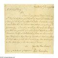 "Autographs:Statesmen, Declaration Signer Philip Livingston Letter Signed ""Sir YourMost Hum Servant Phil. Livingston"". One page, 7.25"" x 7.25""..."