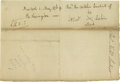 "Autographs:Statesmen, Declaration Signer Philip Livingston Autograph Endorsement SignedOne page, 7.5"" x 5.25"", signed on the back of a bill for v..."
