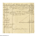 "Autographs:Statesmen, Philip Livingston ""The Signer"" Document Signed ""Phil.Livingston."" Two pages, 7.8"" x 7.6""; New York, December 19,1768. ... (Total: 2 )"