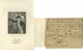 """Autographs:Military Figures, Francis Marion, """"The Swamp Fox"""": A Rare War-Date Document Signed. Document Signed, 1 oblong page, 7.5"""" by 6.5"""", no place [So..."""