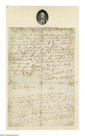 Autographs:Military Figures, Lachlan McIntosh (1727-1806) American General in the Revolution who killed Signer of the Declaration of Independence Button Gw...