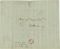 "Autographs:Statesmen, Gouverneur Morris Writes About Napoleon in Russia. ALS: ""GouvMorris"", 2p, 8"" x 9.5"" (front and verso). Morrisania, 1813..."
