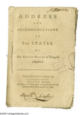 Books:Signed Editions, Declaration Signer Robert Treat Paine Signed Book: Address andRecommendations to the States by The United States inC...