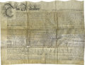Autographs:Statesmen, William Penn Makes an Incredibly Early Grant of Land to His InfantSon in the New Colony of Pennsylvania! Document Signed, ...