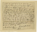 Autographs:Military Figures, Israel Putnam Excessively Rare Autograph Letter to General Gage,Three Days After the Battle of Bunker Hill! Autographed Let...