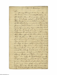 "Caesar Rodney (1728 - 1784), Signer of the Declaration of Independence, Autograph Letter Signed, ""Caesar Rodney&quo..."