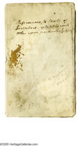 Autographs:Statesmen, Declaration Signer Dr. Benjamin Rush Autograph Manuscript titled References to texts of Scripture related to each other up...