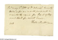"Autographs:Statesmen, Declaration Signer Dr. Benjamin Rush Autograph Document signed""Dr. B Rush"" in the third person, signed at close by Hest..."