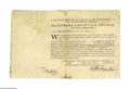 "Autographs:Statesmen, Pennsylvania President Thomas Wharton Document Signed ""ThoWharton jun Pres"". One page, partly printed, SupremeExecutiv..."