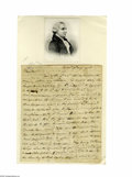 "Military & Patriotic:Revolutionary War, William Whipple (1730-1785), Signer of the Declaration ofIndependence, Autograph Letter Signed ""Wm Whipple"", threepage..."
