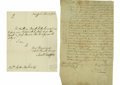 Autographs:Military Figures, (French and Indian War) A fine collection of eight letters anddocuments relative to the French and Indian (Seven Years) War.