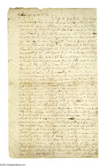 "Autographs:Non-American, A petition to King George III for lenience toward the Colonies. AnIncredible Autograph Document Signed, ""Frances ..."