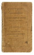 Books:Pamphlets & Tracts, The Declaration of Independence, and Constitution of the UnitedStates of America, with the Amendments; together with...