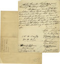 Autographs:Statesmen, Baltimore and Maryland History -- Collection of Manuscript and Printed Material. First settled in 1634 and later the seventh...