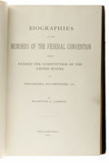 Books:First Editions, Hampton L. Carson: Biographies Of The Members Of The FederalConvention Which Framed the Constitution Of The UnitedStates...
