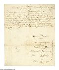 Autographs:Celebrities, (Penobscot Indians) An interesting pair of documents including amanuscript Document Signed by six Penobscot Tribe members w...(Total: 2 items)