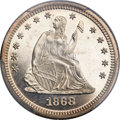 Proof Seated Quarters, 1868 25C PR66 Deep Cameo PCGS....