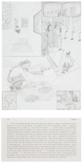 Fine Art - Work on Paper:Drawing, Jim Shaw (b. 1952). I'm at Art Center..., from the DreamDrawings series, 1994-95. Pencil on paper. 11-3/4 x 8-5/8 i...