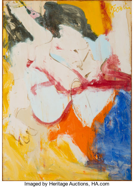 Willem de Kooning (1904-1997) East Hampton II, 1968 Oil on paper laid on canvas 41-3/4 x 30 inches (106 x 76.2 cm) S...
