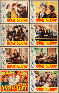 """Ladies of the Jury (RKO, 1932). Lobby Card Set of 8 (11"""" X 14""""). Mystery. ... (Total: 8 Items)"""