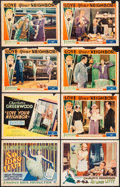"Movie Posters:Comedy, So Long Letty & Other Lot (Warner Brothers, 1929). Title LobbyCards (2) & Lobby Cards (6) (11"" X 14""). Comedy.. ... (Total: 8Items)"
