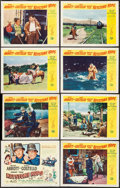"""Movie Posters:Comedy, Abbott and Costello Meet the Keystone Kops (Universal International, 1955). Lobby Card Set of 8 (11"""" X 14""""). Comedy.. ... (Total: 8 Items)"""