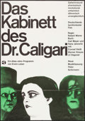 "Movie Posters:Horror, The Cabinet of Dr. Caligari (Atlas, R-1960s). German A1 (23.25"" X 33""). Horror.. ..."