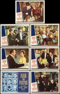 "Flesh and Fantasy (Universal, 1943). Title Lobby Card & Lobby Cards (6) (11"" X 14""). Drama. ... (Total..."